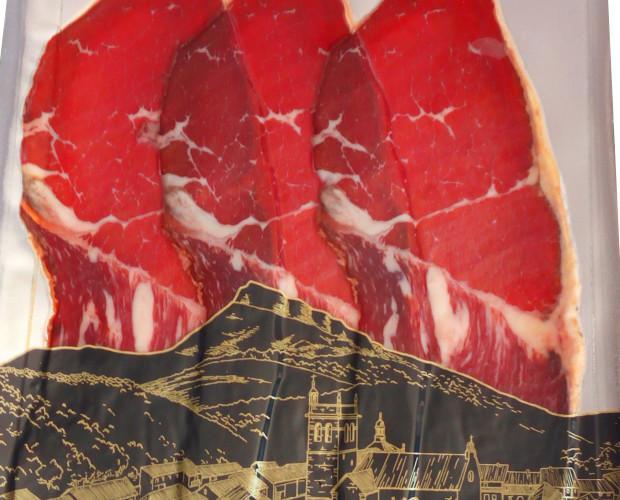 Cecina de León Loncheada. La mejor cecina de León loncheada, en total 10 sobres de 80 gramos cada uno aproximadamente.