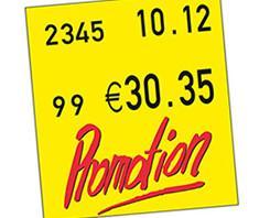 Etiquetas Antihurto.Información sobre precios, tallas u ofertas