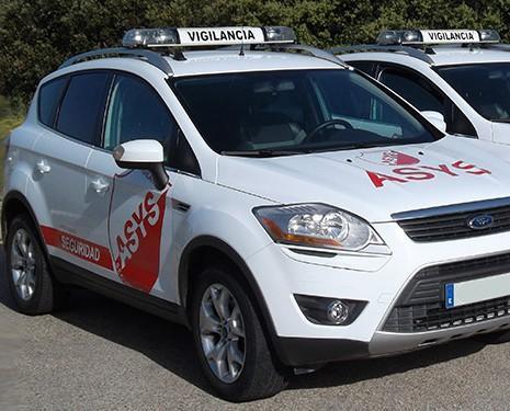 Nuestra flota de vehículos. Servicios de seguridad y vigilancia