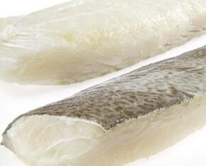 Lomos de Bacalao. Bacalao congelado al punto de sal.