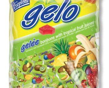 Caramelos Gelo Tropical. Caramelo pectina surtido de frutas tropicales