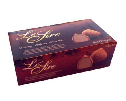 Trufas rellenas de cacao. Le Fire. Trufas rellenas de cacao