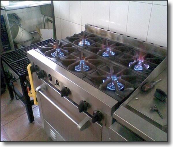 Fogones de cocina. Mantenimiento cocinas