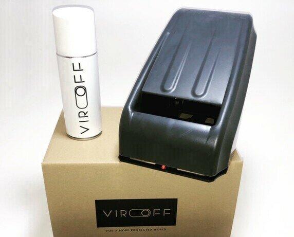 Felpudos Desinfectantes.Kit del dispositivo VirOff, consiste en el dispositivo, un recambio y mochila.