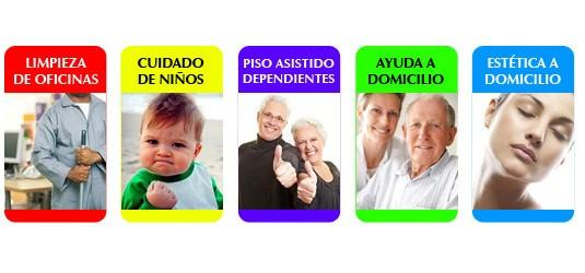 Servicios domiciliarios. Asistencia sanitaria, canguros, compañía