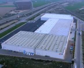 Cajas Eléctricas.Vista aérea instalaciones IDE ELECTRIC en Zuera