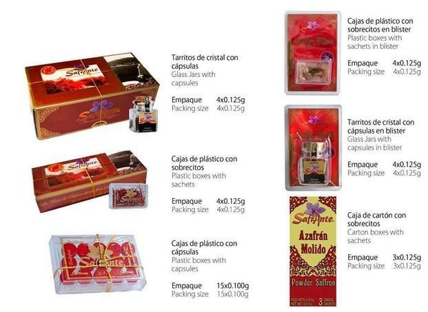 Azafrán español. Azafrán español de calidad certificada molido y en hebra