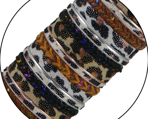 Pulseras leopardo. Un toque elegante