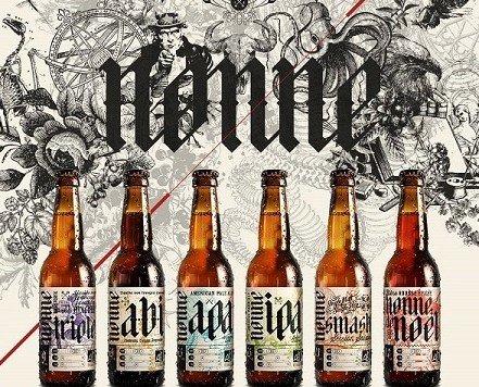 Cerveza. Cerveza Ecológica de Importación. cerveza Brassurs Savoyards gama nonne