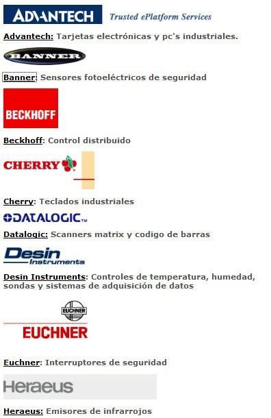 Nuestras marcas. Componentes para el sector de la automatización
