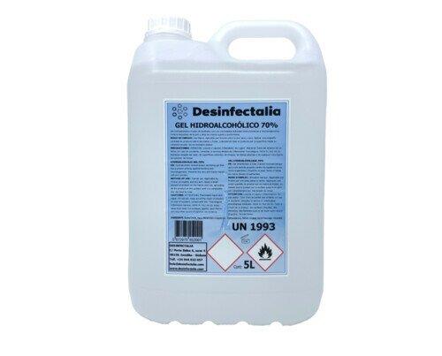 Gel Hidroalcohólico. Gel hidroalcohólico 5 litros autosecante con propiedades higienizantes.