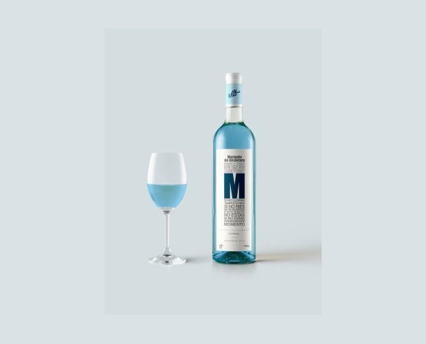 Marqués de Alcántara. Vino Azul Chardonnay