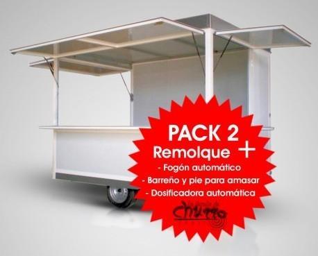 Pack Remolque con maquinaria. Remolque de 3mx2m con maquinaria