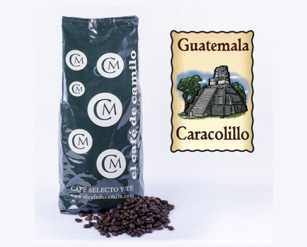 Café Caracolillo. Su nombre no se refiere a una variedad de mezclas si no a la forma de los granos que se usan