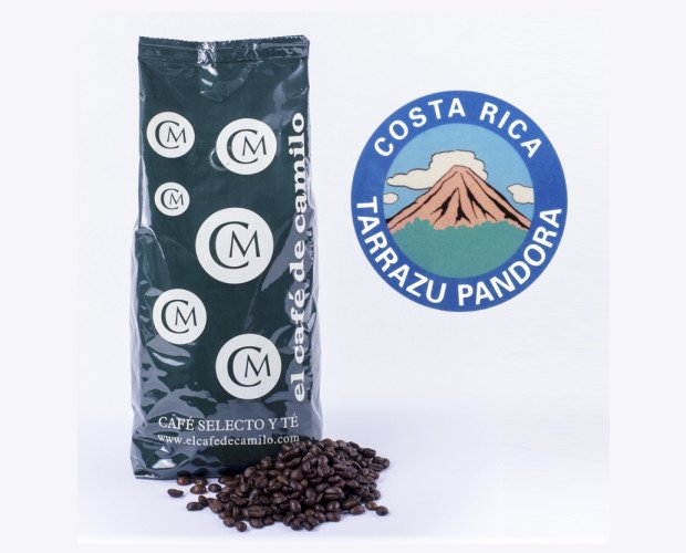 Café Costa Rica Tarrazú. Tiene buen cuerpo y un aroma y sabor redondo.