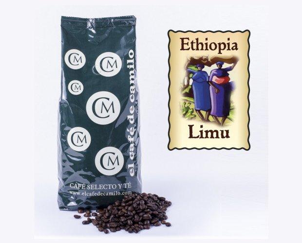 Café Etiopía Limu Arábica. Un grano de acidez media a ligera, que da una taza equilibrada de excelente sabor.