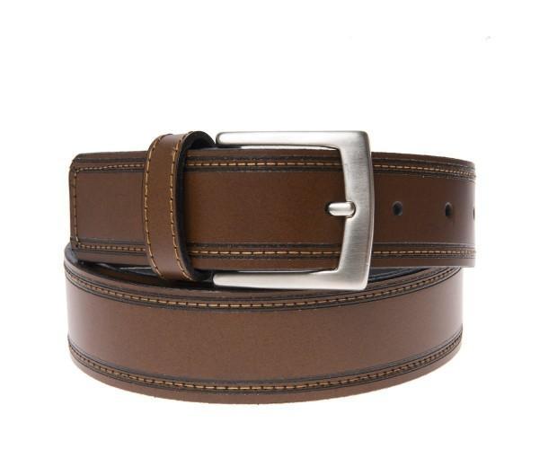 Cinturones.Cinturón de Piel marrón echo en España