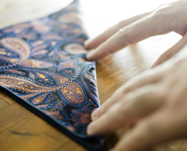 Pañuelos.Pañuelo de bolsillo con diseño.