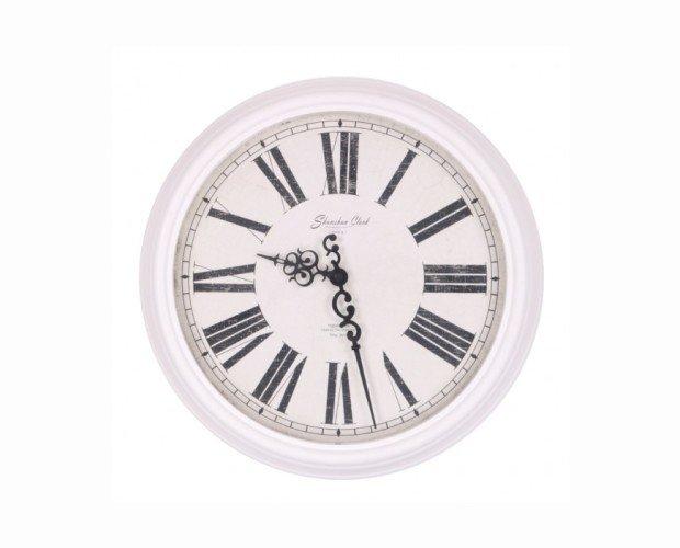 Reloj. Para pared blanco