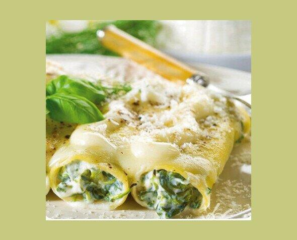 Canneloni con Vegetales. Exquisita receta con Riccotta y Espinacas