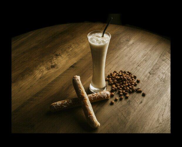 Presentación horchata. Granizados granicoy se especializar en aportar sabores diferentes