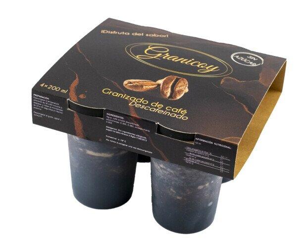 Granizado de cafe descafeinado sin. Granizado de café descafeinado sin azúcar en pack de 4*200ml.