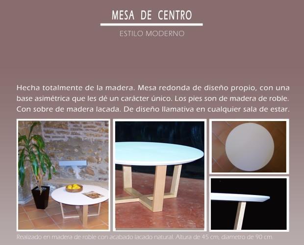 Mesa de centro. Estilo moderno