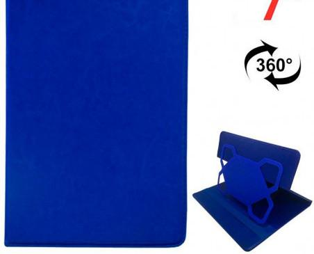 Funda de tabet universal. Tablet 7 pulg Polipiel Azul Giratoria