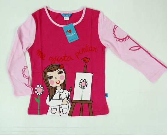 Camisetas Infantiles.De manga larga y cuello redondo 100% algodón