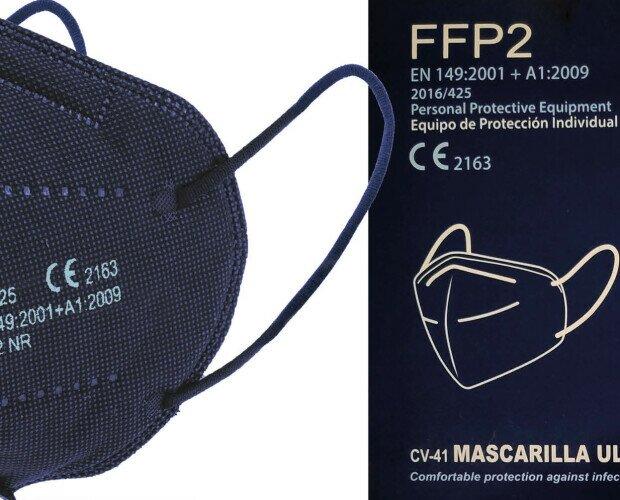 Mascarillas FFP2 azul marino. Mascarillas de excelente calidad al mejor precio