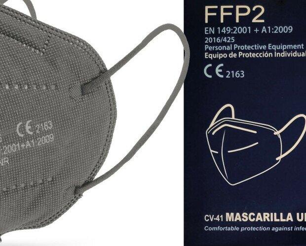 Mascarillas FFP2 gris. Todos nuestros artículos han pasado las pruebas sanitarias correspondientes