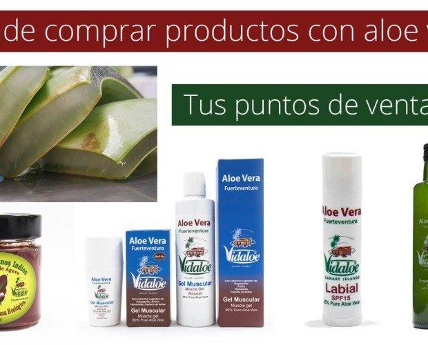 Productos con aloe v. Puntos de venta de los productos Vidaloe® en España