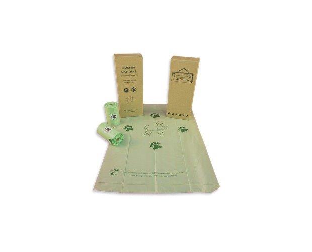 cajitas-bolsas-caninas-biodegradablesjp. Color natural con estampado estándar