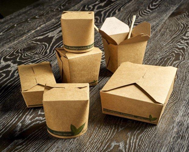 Envases Kraft. Con recubrimiento PLA, 100% compostables