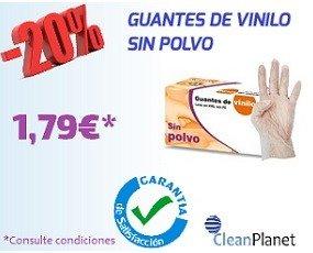 GUANTES VINILO S/P. Guantes desechable de vinilos