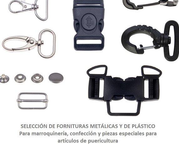 Partes y Accesorios para Bolsos.Metálicas y de plástico especial puericultura