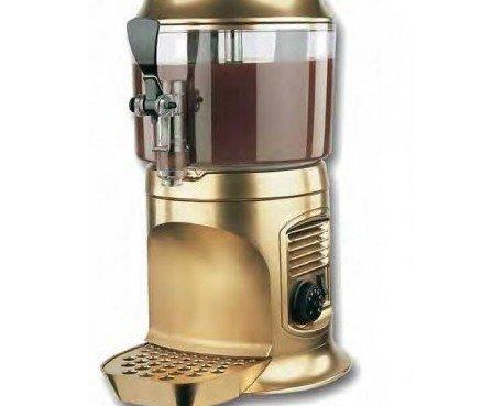 Chocolatera Delice Gold. Grifo fácilmente desmontable para una perfecta limpieza.