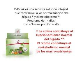 FitLine D-Drink (en sobres). ingredientes naturales de alta calidad como brócoli, cardo mariano y extractos de ajo