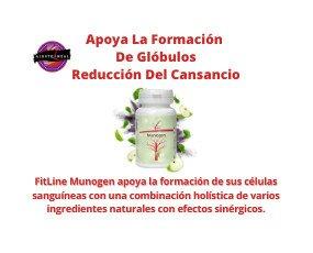 FITLINE MUNOGEN. ingredientes naturales como manzana verde, uva, extractos de espinaca roja