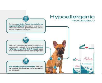 Alimento hipoalergénico para cachorros. Alimentación sana para su mascota.