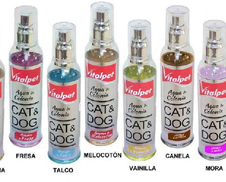 Colonias para perros y gatos. Productos libres de alcohol