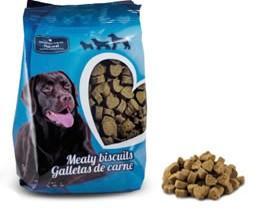 Galletas de carne en forma de corazon. Las galletas de carne son el Snack perfecto para premiar el comportamiento de la mascota y para el...