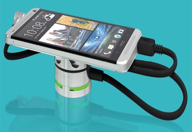 Antihurto para móvil. Sistema antihurto para la protección de móviles y tablets en comercios