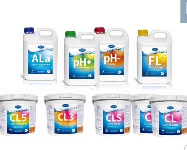 Compuestos Químicos de Uso Común.Gama Fusión para pisicinas