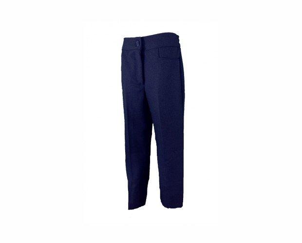 Pantalón Uniforme Azul. Hechura pensada para las niñas, sin pinzas