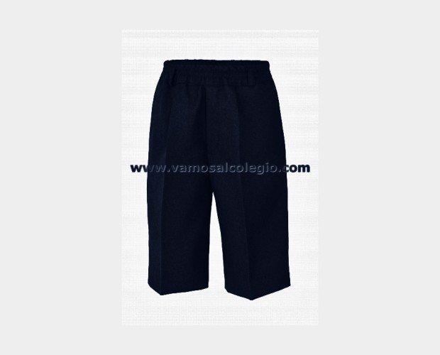 Pantalón Corto Azul. Composición: 45% de Lana. Planchado fácil.