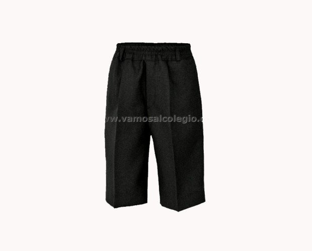 Pantalón Corto Gris. Cintura todo gomas (sin botones)