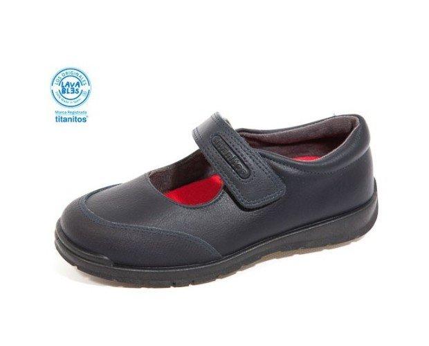 Zapato colegial, tipo Merceditas. Cálido forro ecológico de agradable tacto