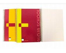 Cuaderno cuadriculado. Papel A4 liso