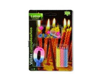 Velas de cumpleaños. En varios colores